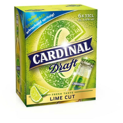 Cardinal Draft Lime Cut EW 33 cl