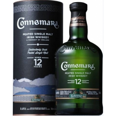 Connemara 12 y, Peated Irish Single Malt..