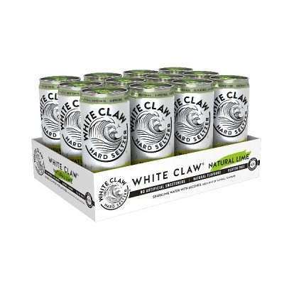 White Claw Natural Lime 33 cl  Hard Seltzer